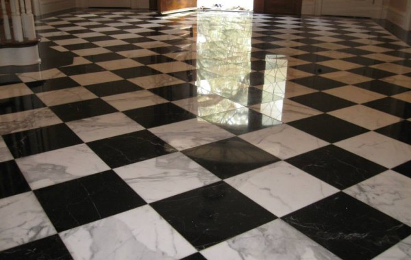 Checkerboard marble