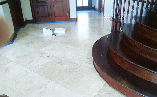 Travertine Floor Refinishing